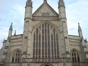 Winchester Cathedral's Western entrance