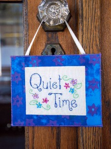 Shhh! It's the Quiet Time.