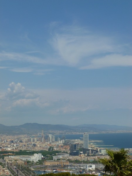 Cloud sylph above Barcelona