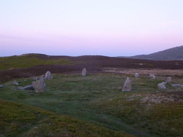 Druid's Circle at twilight - June 2013