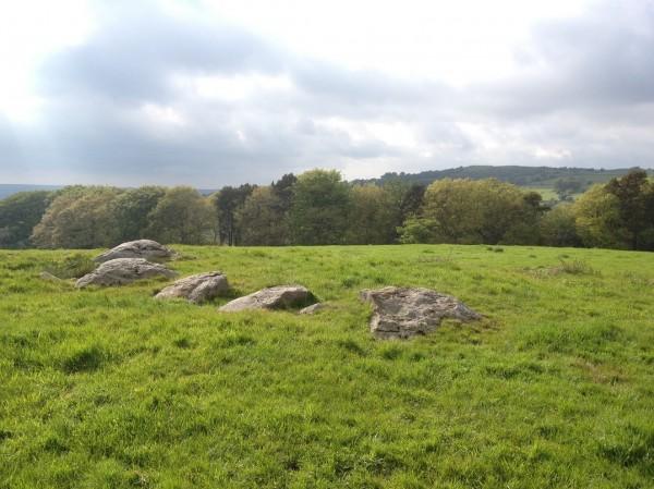 Remaining pins at Nine Pins stone circle
