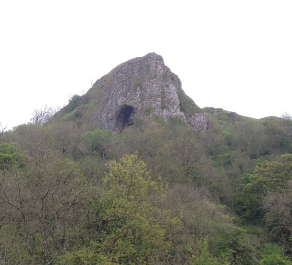 Approaching Thors Cave in Staffordshire.