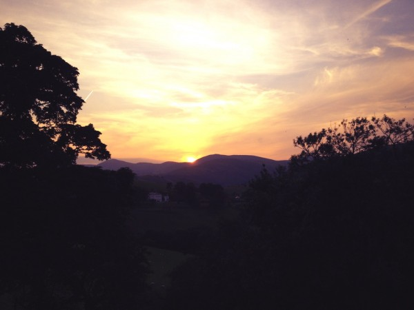 Sunset at Llangollen in July 2013