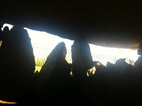 Inside Lligwy Chamber