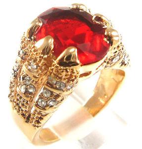 Golden ruby ring