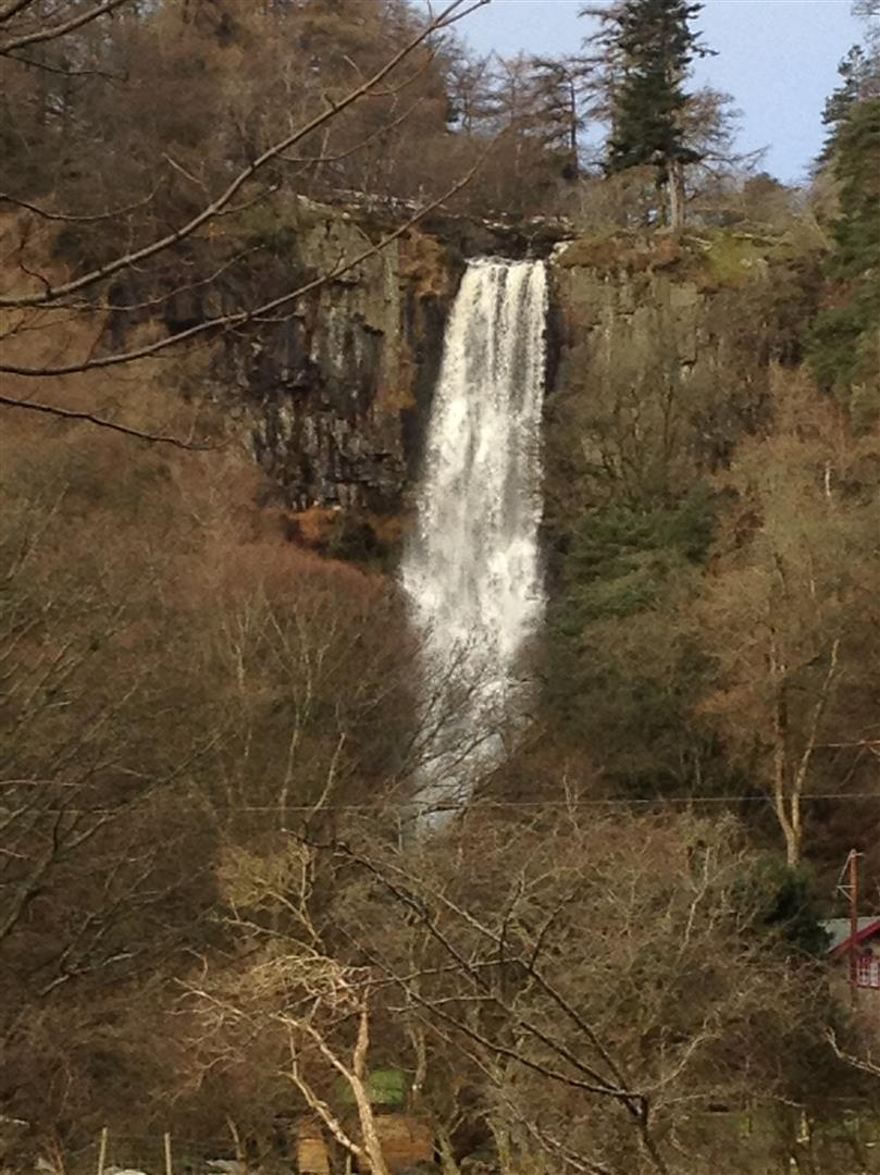 Pistyll Rhaeadr waterfall - Imbolc 2014 (Large)
