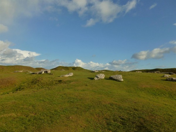View over Arbor Low at Spring 2014
