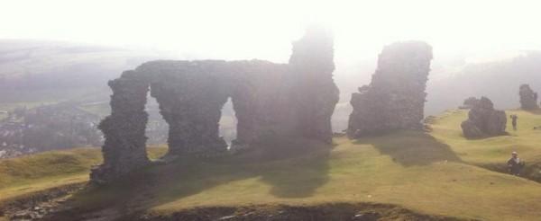 Looking down on Dinas Bran