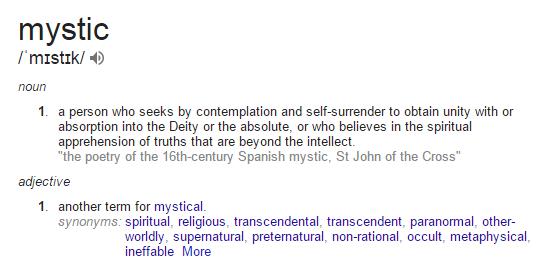 mystic a definition