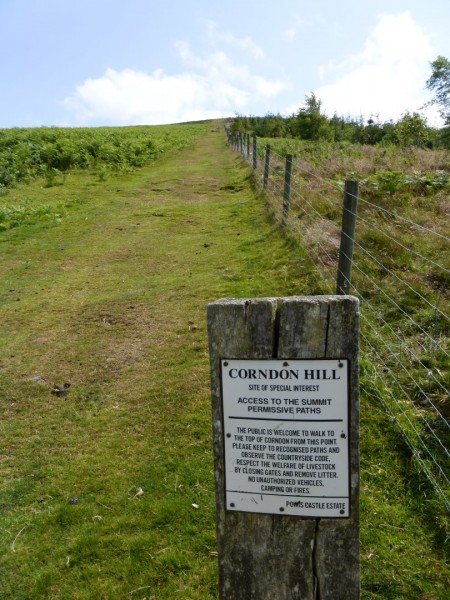View of path up Corndon Hill