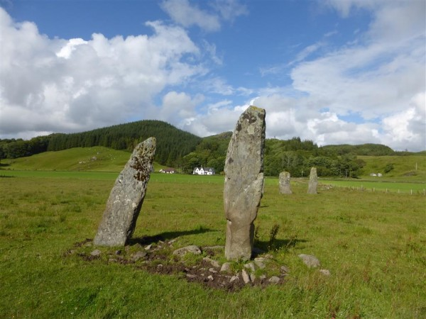 Ballymeanoch stone row and circle - Lammas 2015 (6)