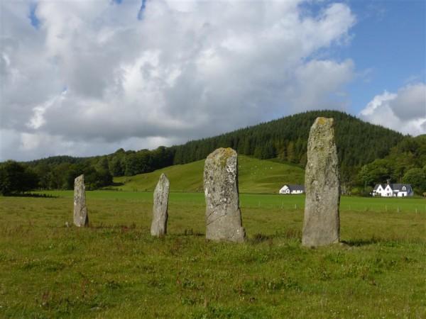 Ballymeanoch stone row and circle - Lammas 2015 (8)
