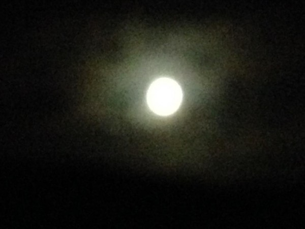 Blue Moon from Temple Wood circle - Lammas 2015 (1)