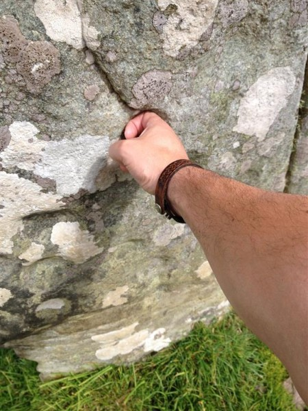 Cup-marked stone glyph lock (1)