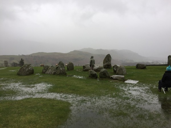 Flooded circle at Castlerigg