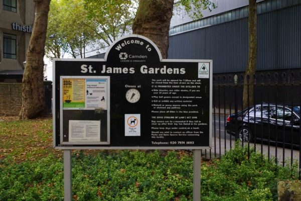 st james gardens euston london